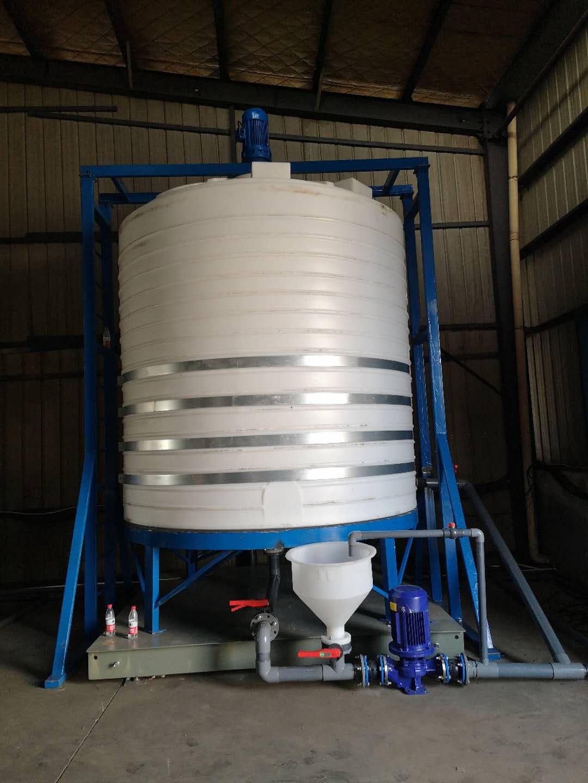 塑料储罐_20吨/T(20000L)储罐带爬梯护栏_常州瑞辉塑料制品有限公司